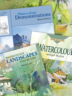 Set of three books on Watercolour